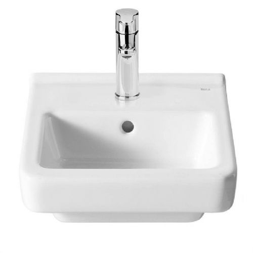 Roca Dama-N Compact Wall Hung Basin - 350mm - 1 Tap Hole - White